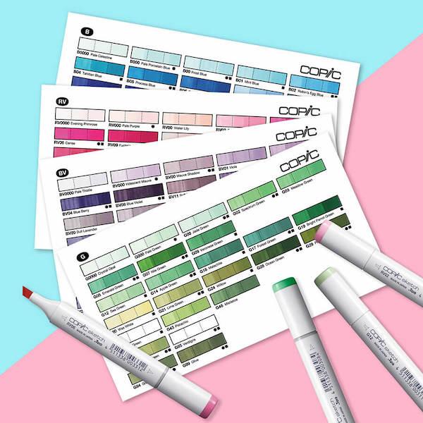 コピック,い色見本,カード,スウォッチカード,copic,Copic Color Swatch Cards