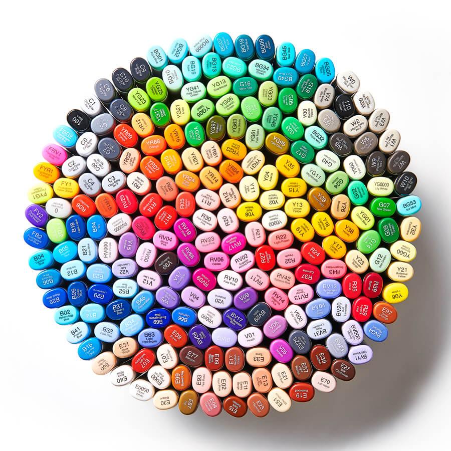 Widest color chart