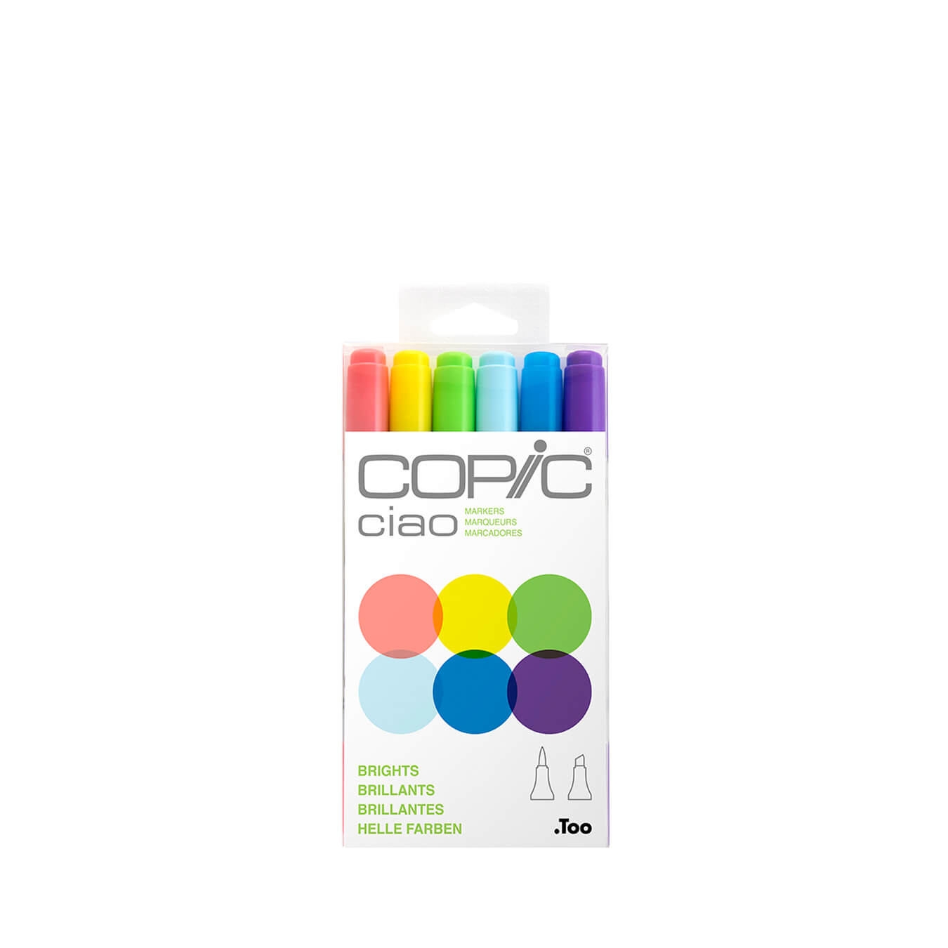 Copic Ciao 6 colors set Brights
