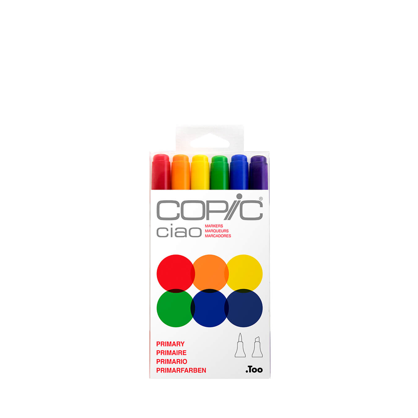 Copic Ciao 6 colors set Primary