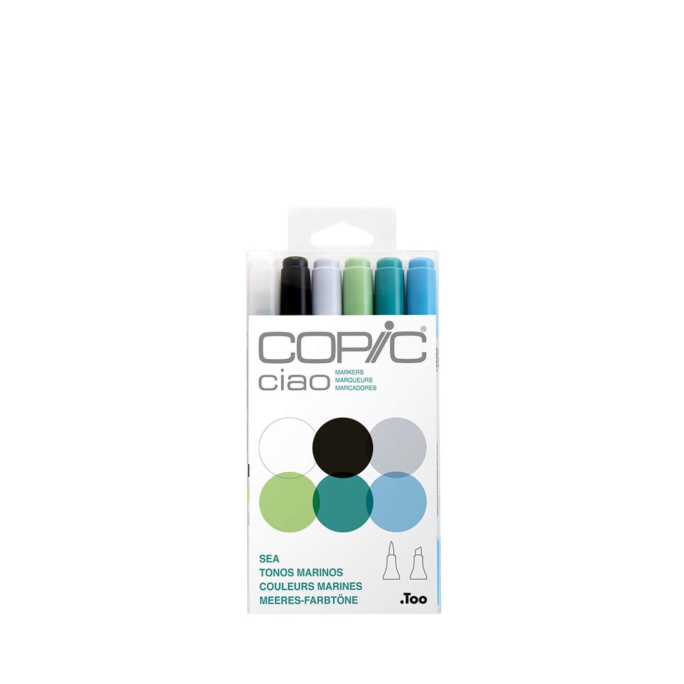 Copic Ciao 6 colors set Sea