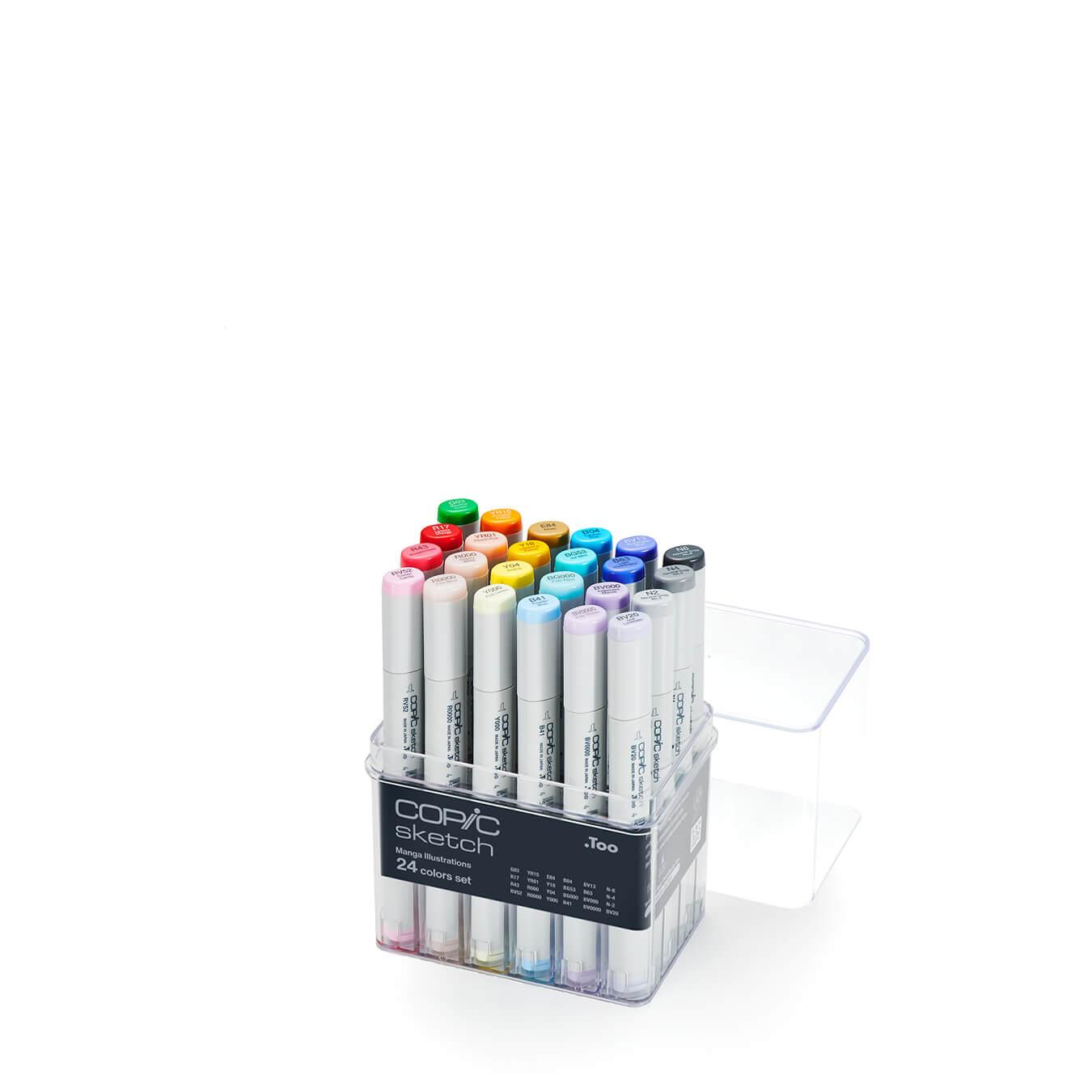 Copic Sketch 24 colors set for Manga Illustrations
