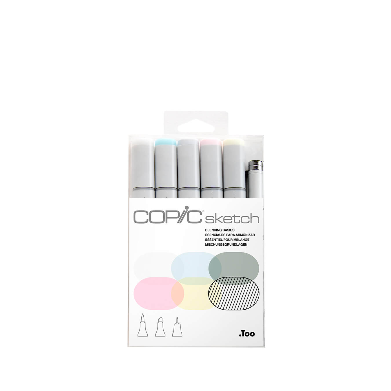 Copic Sketch 5 colors + Multiliner SP set Blending Basics