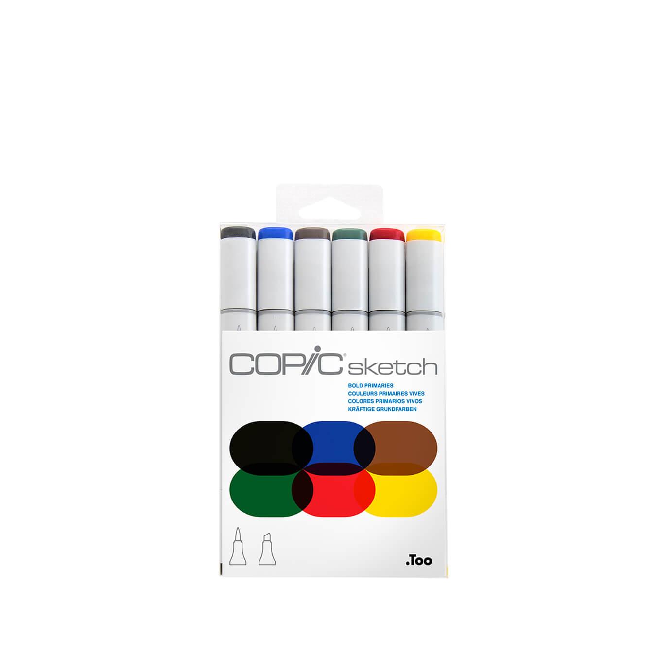 Copic Sketch 6 colors set Bold Primaries