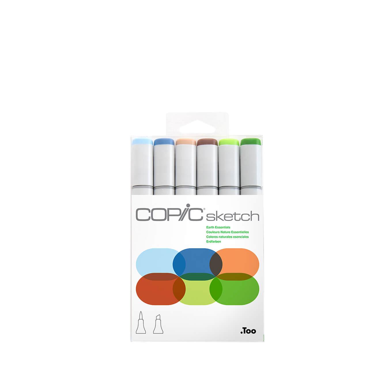 Copic Sketch 6 colors set Earth Essentials