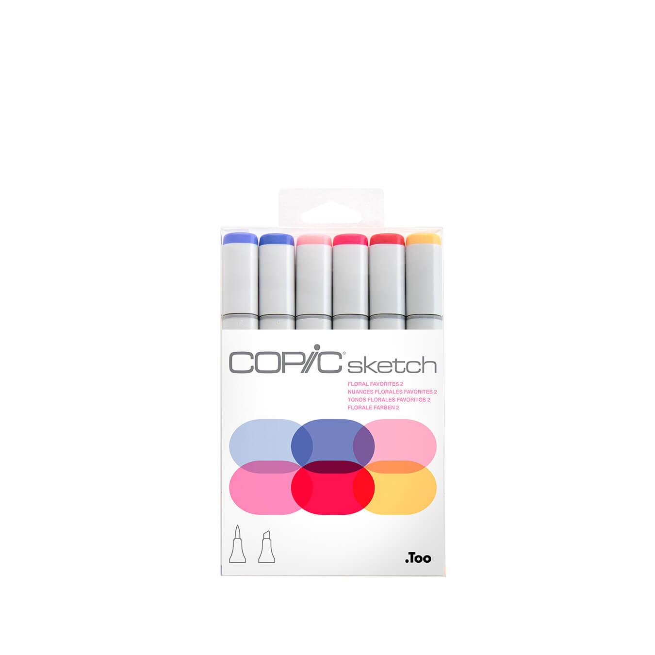 Copic Sketch 6 colors set  Floral Favorites 2