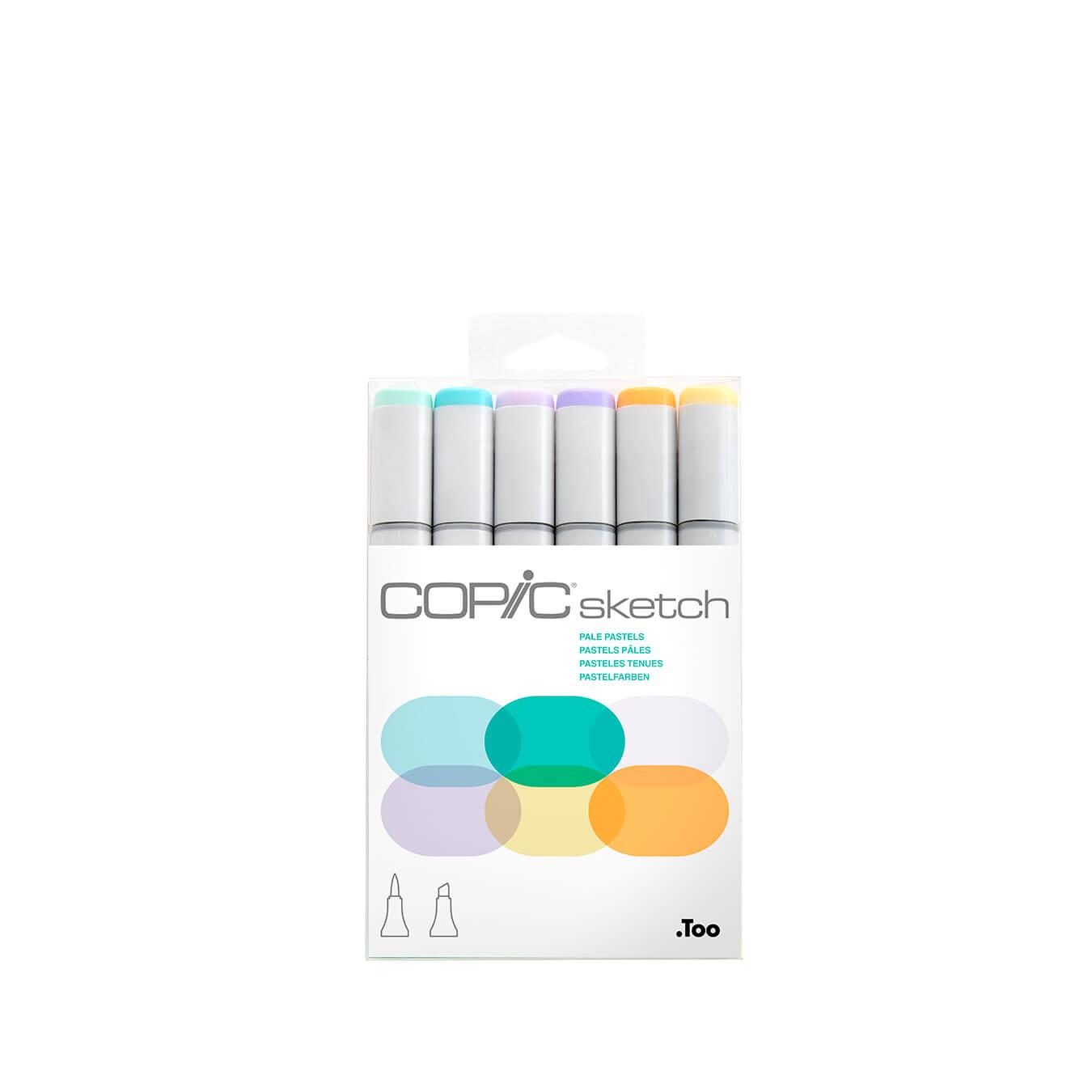 Copic Sketch 6 colors set Pale Pastels
