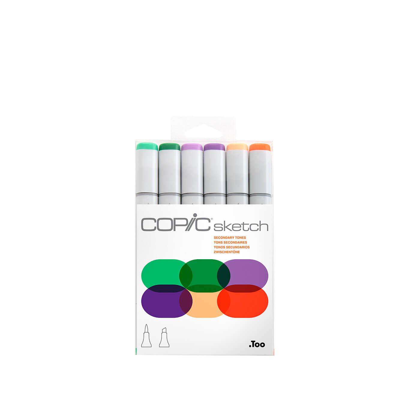 Copic Sketch 6 colors set Secondary Tones