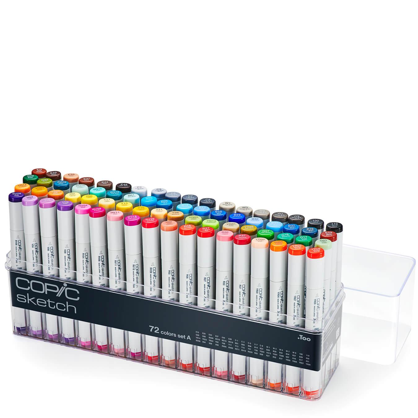 Copic Sketch 72 colors set A