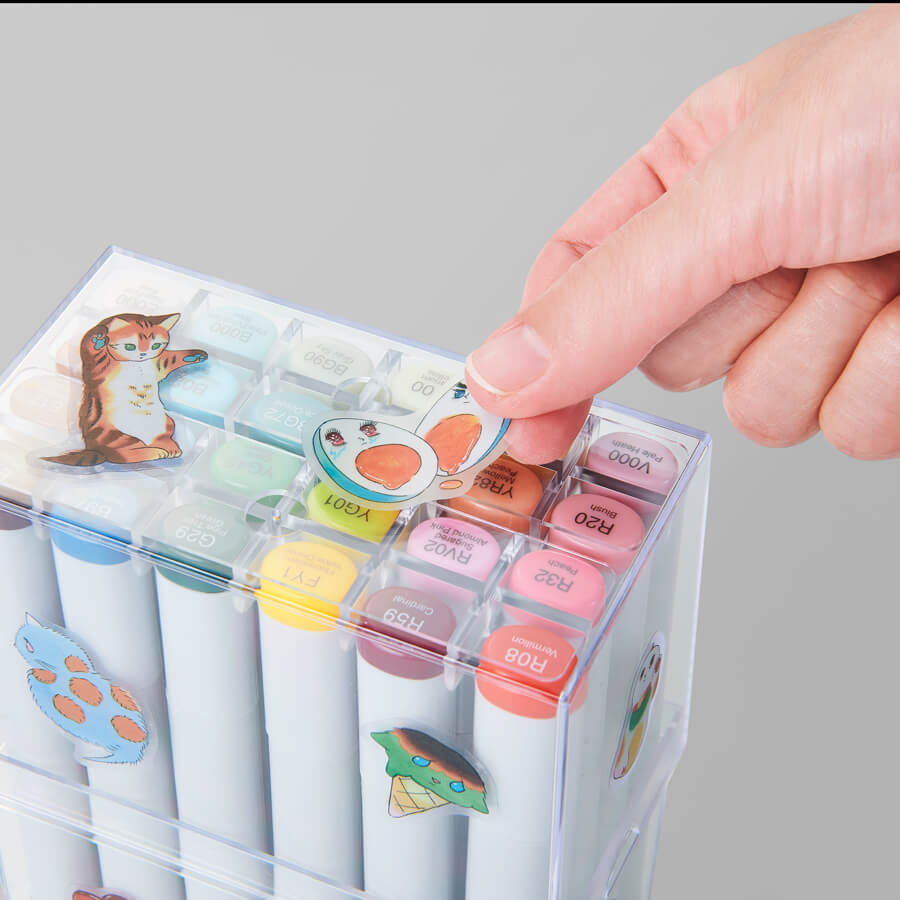 8 kinds of illustration stickers.