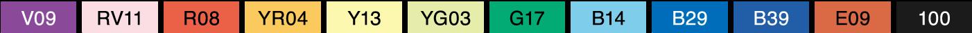 Copic Classic 12pc Color Set