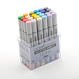 Copic Sketch 24pc Set for Manga Illustrations
