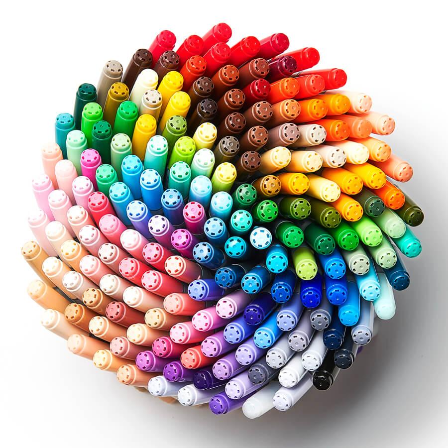色選びを楽しめる全180色