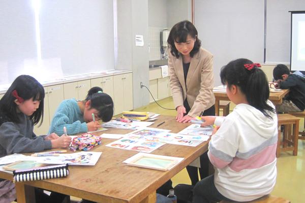 多賀城市中央公民館カラーイラスト教室